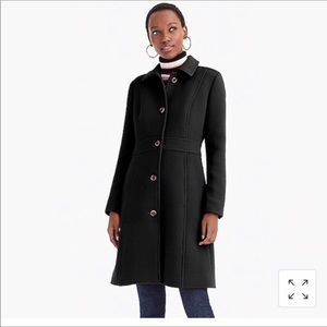 Black J Crew Lady Day Coat with Thinsulate